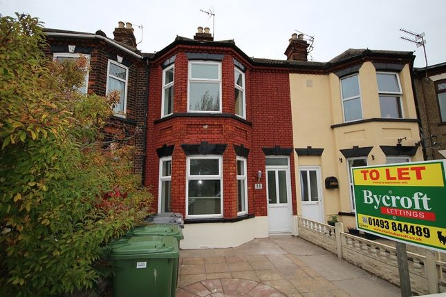 Thumbnail Terraced house to rent in Beaconsfield Road, Great Yarmouth