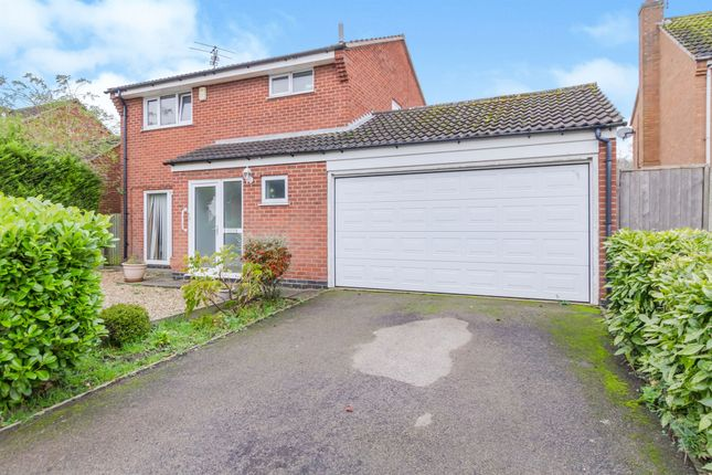 Thumbnail Detached house for sale in Fernie Close, Oadby, Leicester