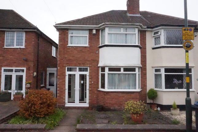 Thumbnail Semi-detached house for sale in Rutherford Road, Erdington, Birmingham.