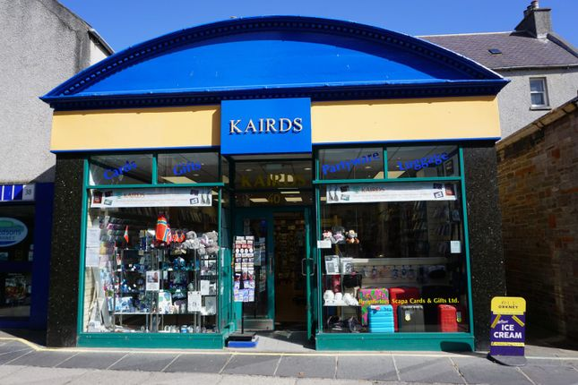 Thumbnail Commercial property for sale in Kairds Gift Shop, 40 Albert Street, Kirkwall, Orkney