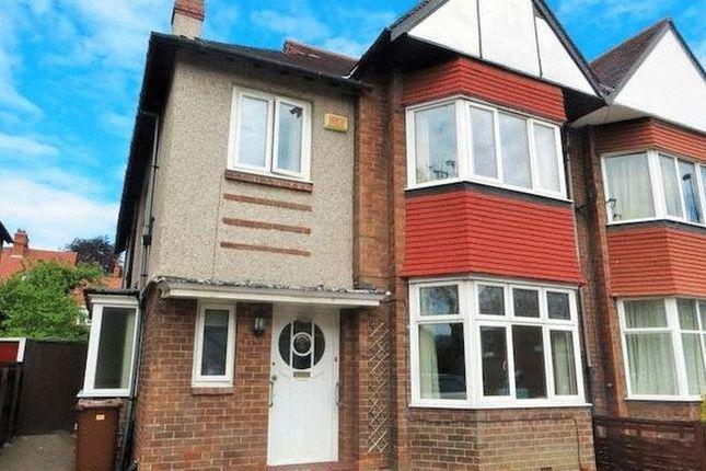 Thumbnail Semi-detached house to rent in Osborne Road, Jesmond, Newcastle Upon Tyne