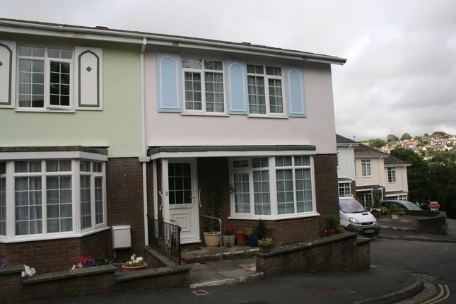 Thumbnail End terrace house to rent in Knowle House Close, Kingsbridge