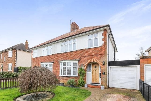 Thumbnail Semi-detached house for sale in Strathmore Avenue, Hitchin, Hertfordshire