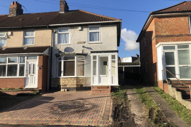 Thumbnail End terrace house for sale in Fosbrooke Road, Birmingham, West Midlands