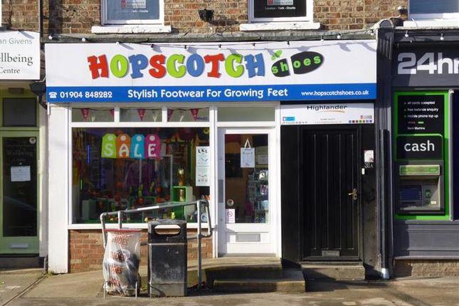 Retail premises for sale in Bishopthorpe Street, York