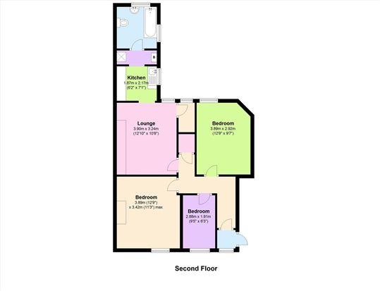 Floor Plan of Island Road, Barrow In Furness LA14