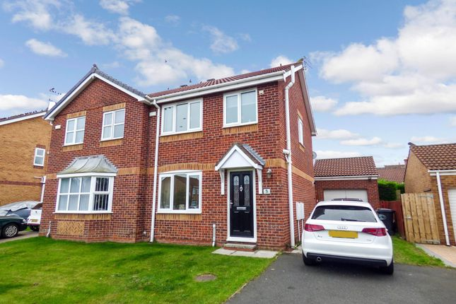 Thumbnail Semi-detached house for sale in Durham Close, Bedlington