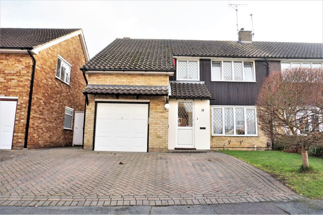 Thumbnail Semi-detached house for sale in Curlew Crescent, Basildon