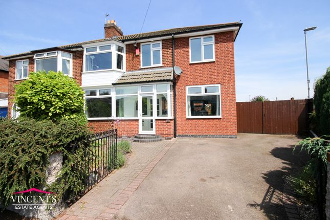 Thumbnail Semi-detached house for sale in Turnbull Drive, Braunstone Town, Leicester