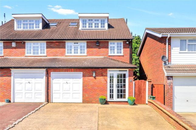 Thumbnail Semi-detached house for sale in Wadham Road, Abbots Langley