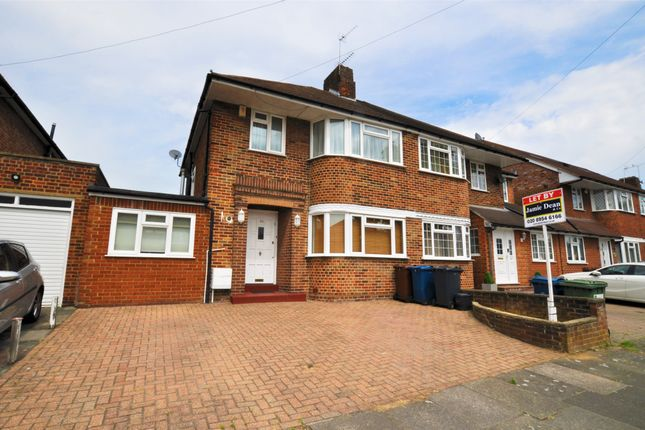 Thumbnail Semi-detached house to rent in Du Cros Drive, Stanmore