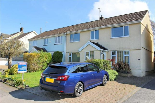 Thumbnail Semi-detached house for sale in Gwerneinon Road, Sketty, Swansea