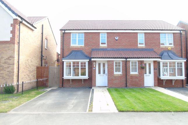 Thumbnail Semi-detached house to rent in Rothbury Drive, Ashington