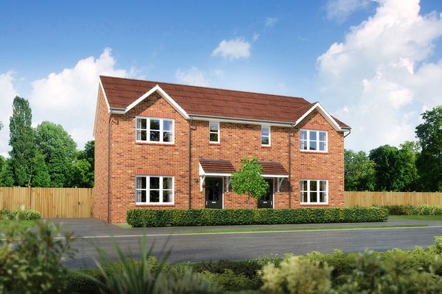 "Thumbnail 3 bedroom semi-detached house for sale in ""Caplewood"" at Moorfields, Willaston, Nantwich"