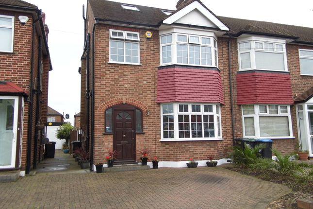 Thumbnail End terrace house for sale in Countisbury Avenue, Bush Hill Park