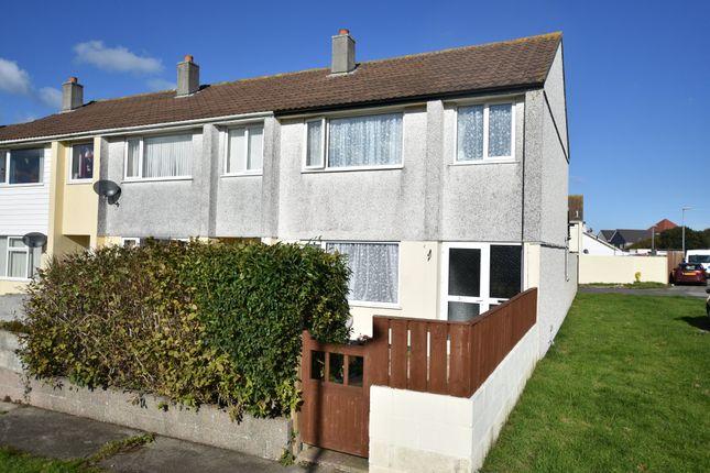 Thumbnail End terrace house for sale in Rosemellin, Camborne