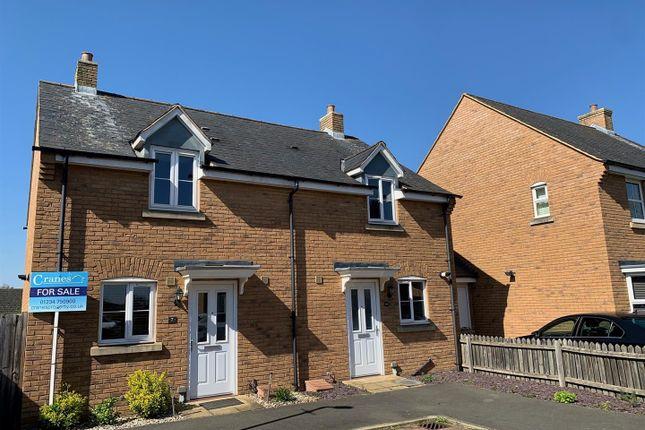 Thumbnail Semi-detached house for sale in Flitt Leys Close, Cranfield, Bedford