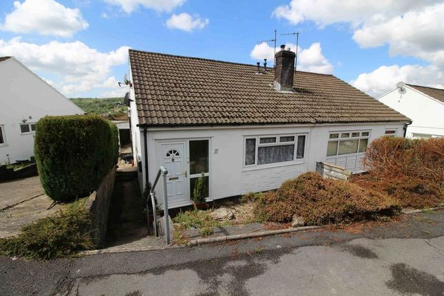 Thumbnail Semi-detached bungalow for sale in Moorland Heights, The Common, Pontypridd