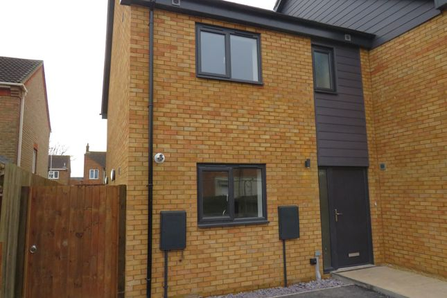Thumbnail End terrace house for sale in Colwyn Avenue, Peterborough