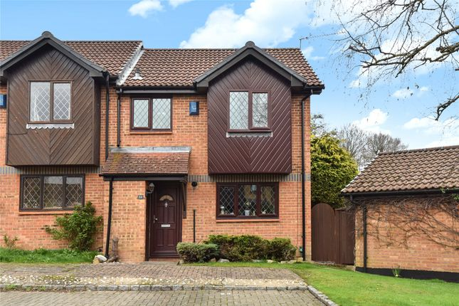 Thumbnail Semi-detached house for sale in Drayhorse Drive, Bagshot, Surrey