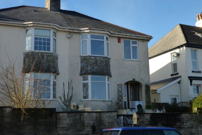 Thumbnail Semi Detached House To Rent In North Road Saltash Cornwall