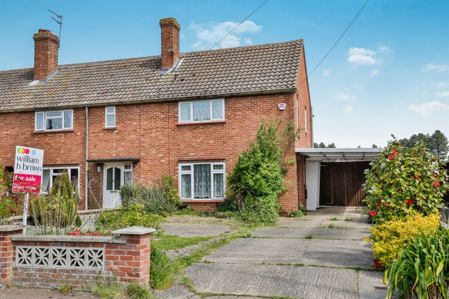 Thumbnail End terrace house for sale in East Hills Road, New Costessey, Norwich