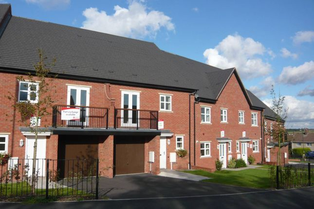 Thumbnail Town house to rent in South Lodge Mews, Midway, Swadlincote