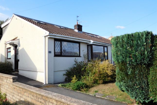 Thumbnail Semi-detached bungalow for sale in Legions Way, Gelligaer, Hengoed
