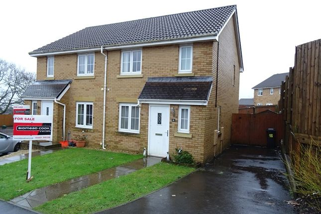 Thumbnail Semi-detached house for sale in Cyfarthfa Rise, Heolgerrig, Merthyr Tydfil