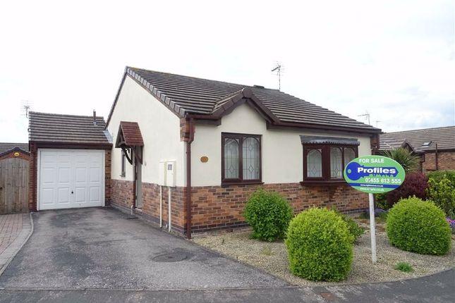 Thumbnail Detached bungalow for sale in Dovecote Close, Sapcote, Leicester
