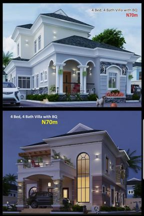 Thumbnail Detached house for sale in 4 Bed Villa, Amen Estate Phase 2 Eleko Beach Road Lekki Lagos, Nigeria
