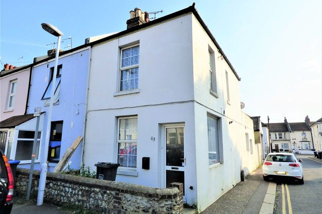 Thumbnail End terrace house to rent in Orme Road, Broadwater, Worthing