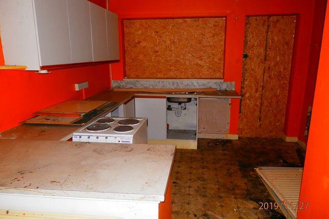 Kitchen of Thomas Street, Tonypandy, Rhondda, Cynon, Taff. CF40