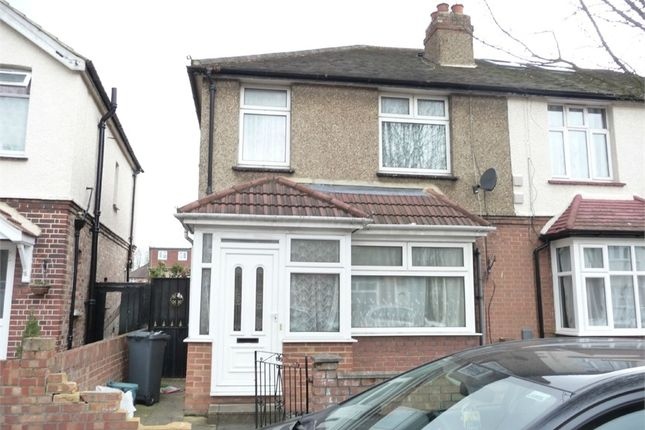 Thumbnail Semi-detached house for sale in Gladstone Avenue, Feltham, Greater London