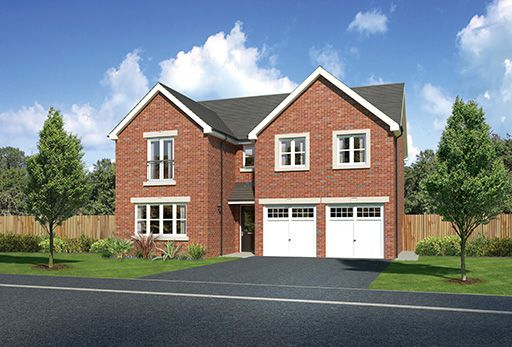 "Thumbnail Detached house for sale in ""Malborough"" At Bolton Road, Adlington, Chorley PR6, Adlington,"