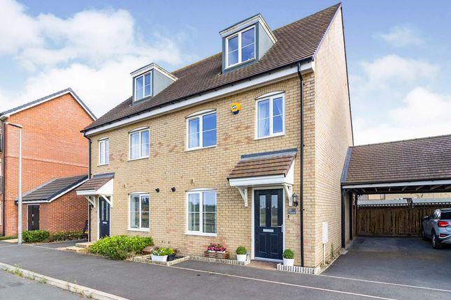 Thumbnail Semi-detached house for sale in Antigua Way, Newton Leys, Bletchley, Milton Keynes