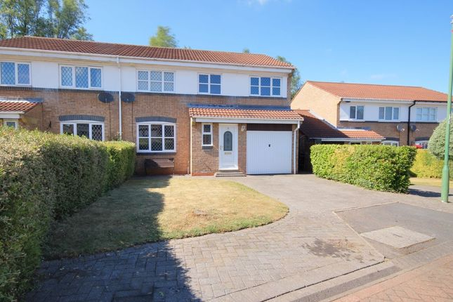 Thumbnail Semi-detached house for sale in Lesbury Close, Chester Le Street