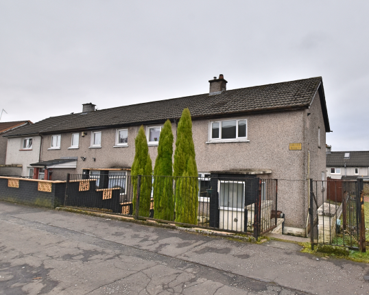 2 bedroom end terrace house for sale in 109 Banff Road, Greenock