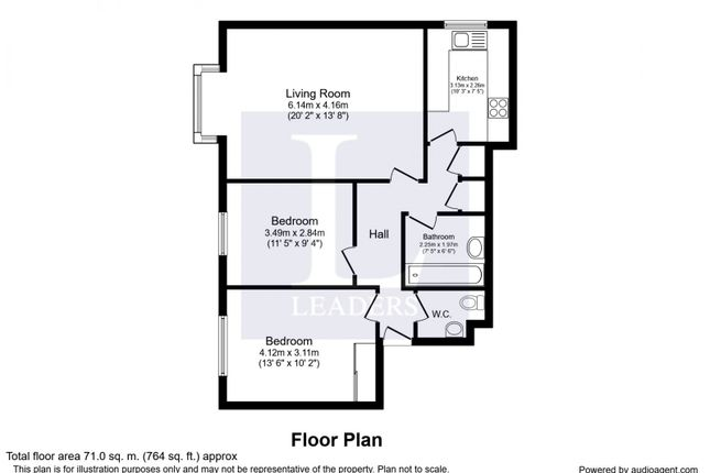 Floor Plan of Woodlands Avenue, Rustington, Littlehampton BN16