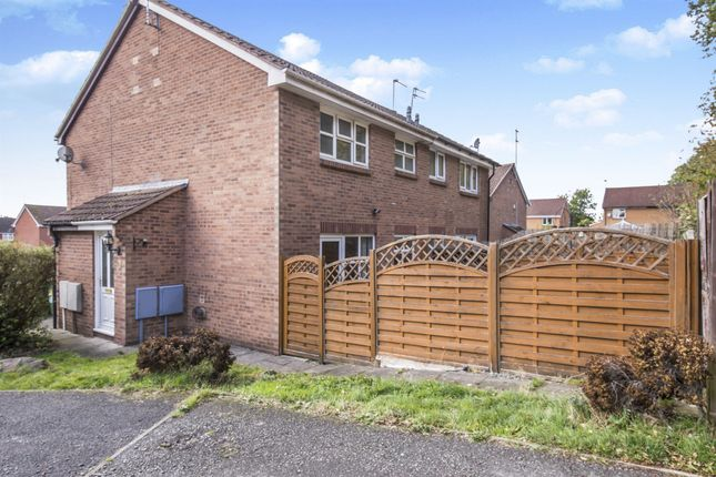 Thumbnail End terrace house for sale in Hewes Close, Glen Parva, Leicester