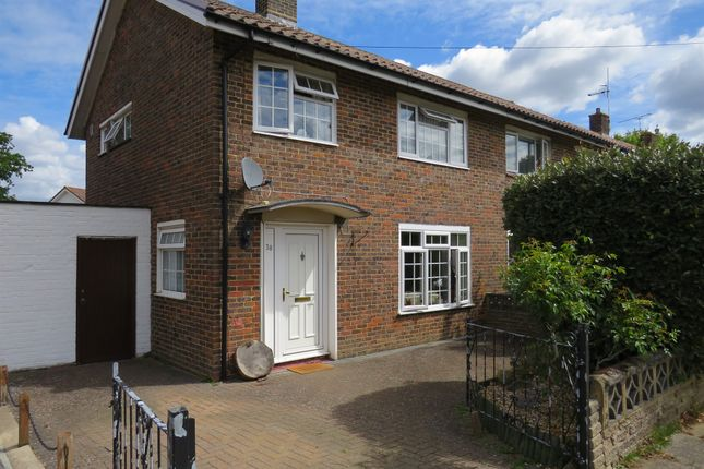 Thumbnail Semi-detached house for sale in Whittington Road, Crawley