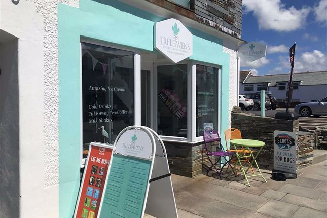 Thumbnail Restaurant/cafe for sale in Treleavens Ice Cream, Fore Street, Tintagel, Cornwall
