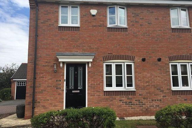 Thumbnail Semi-detached house to rent in 9 Amblerise Close, Amington Road, Tamworth, Staffordshire
