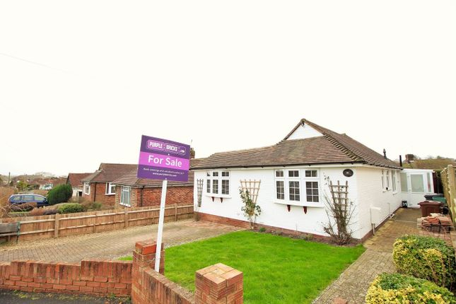 Thumbnail Detached bungalow for sale in Combe Rise, Eastbourne