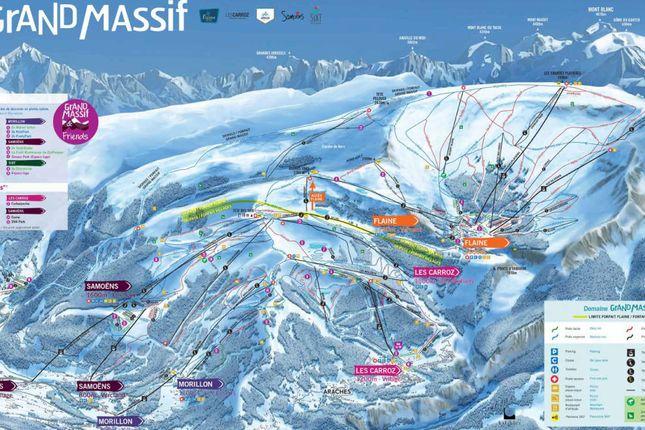 Ski Map of Les Carroz-D'araches, Haute Savoie, France