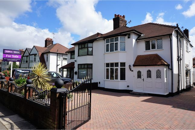 Thumbnail Semi-detached house for sale in Queens Drive, Liverpool