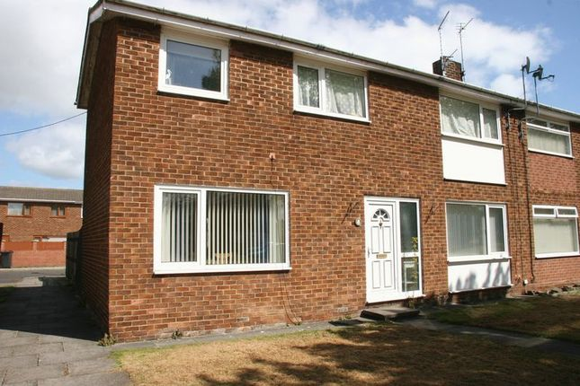 Thumbnail Terraced house to rent in Essex Close, Ashington