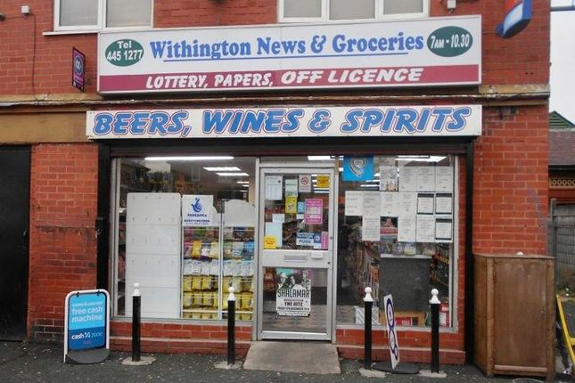 Retail premises for sale in 92 Mauldeth Road West, Manchester