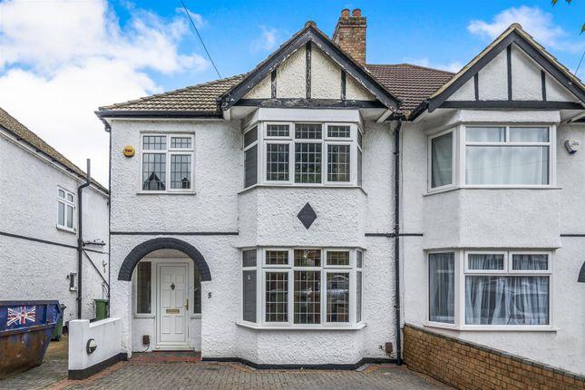 Thumbnail Semi-detached house for sale in Garden Close, Wallington, Surrey