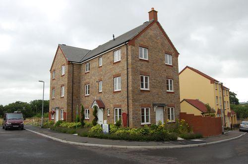 Thumbnail Town house to rent in Shambles Drive, Copplestone, Crediton, Devon